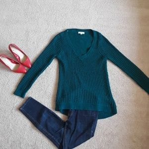 Sweaters - Amazing high low teal sweater size medium